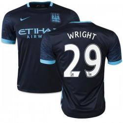 Men's 29 Richard Wright Manchester City FC Jersey - 15/16 Spain Football Club Nike Authentic Navy Away Soccer Short Shirt